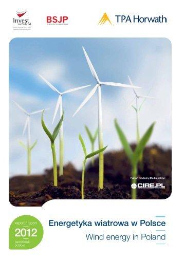 Energetyka wiatrowa w Polsce Wind energy in Poland - TPA Horwath