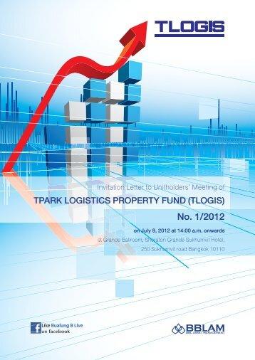 No. 1/2012 - TPARK Logistics Property Fund