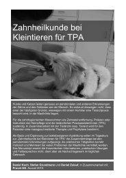 Zahnheilkunde bei Kleintieren für TPA - Daniel Koch