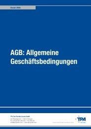 AGB: Allgemeine Geschäftsbedingungen - von TPA