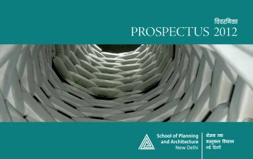 PROSPECTUS 2012 - School of Planning and Architecture