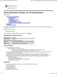 IV t-PA Administration (MGH.. - American Stroke Association