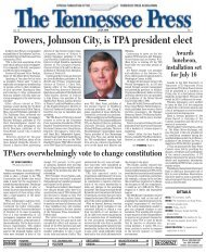 State Press Contests Awards - Tennessee Press Association