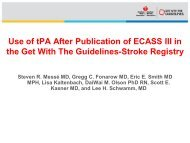 Use of tPA After Publication of ECASS III - American Stroke ...