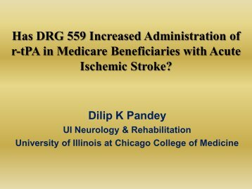 Has DRG 559 Increased Administration of r-tPA in Medicare ...