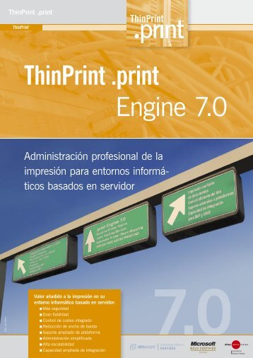 TP .print 7.0, Spanisch, 07-07.indd - ThinPrint Print Solutions for ...