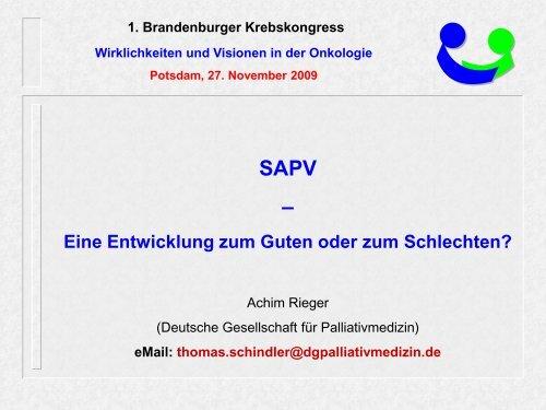 SAPV - Tumorzentrum Land Brandenburg