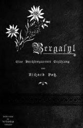 Bergasyl, eine Berchtesgadener Erzählung
