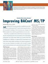 Improving BACnet® MS/TP