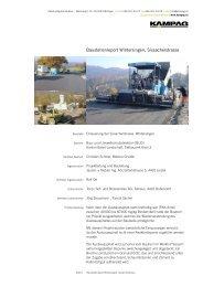 Download PDF: Baustellenreport Wintersingen ... - kampag
