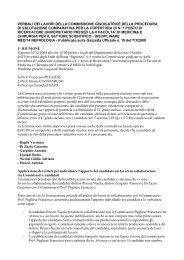 Relazione finale - Università di Roma - Sapienza