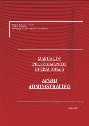 Manual de Procedimentos Operacionais - Apoio Administrativo