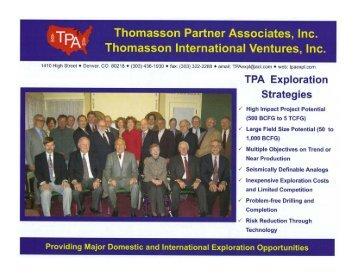 Tpa Brochure - Thomasson Partner Associates, Inc.