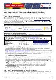 Checkliste zur Errichtung einer Photovoltaik ... - Future Energy Vertrieb