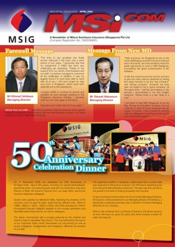 Farewell Message New Staff - MSIG Insurance (Singapore)