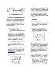 Analog Watch Instruction Manual - C. Crane Company