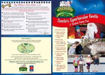 Santa's Grotto leaflet - Willows Farm Village