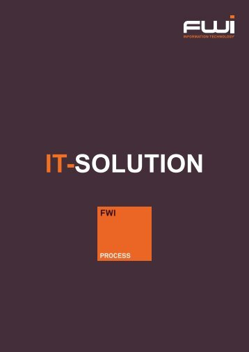 FWI PROCESS The industry solution based on Microsoft Dynamics ...