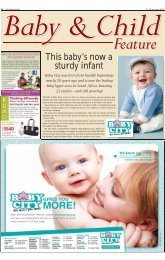 This baby's now a sturdy infant - South African Jewish Report