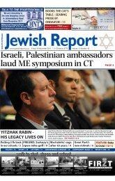 Israeli, Palestinian ambassadors laud ME symposium in CT PAGE 3