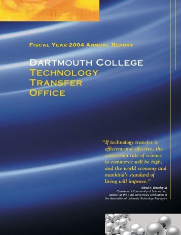 Dartmouth College Technology Transfer Office