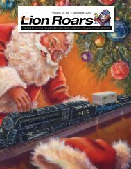 Volume 37, No. 2 December, 2007 - Lionel Collectors Club of America