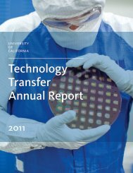 UC Technology Transfer Annual Report - University of California ...