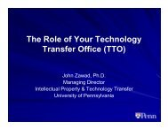 The Role of Your Technology Transfer Office (TTO) - World Events ...