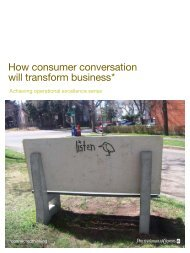 How consumer conversation will transform business* - PwC