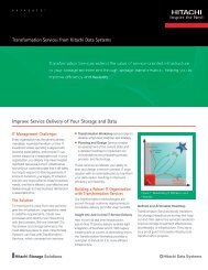 Transformation Services from Hitachi Data Systems