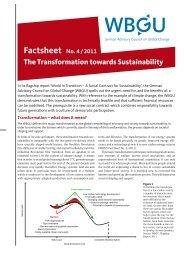 The Transformation towards Sustainability Factsheet No. 4 ... - WBGU