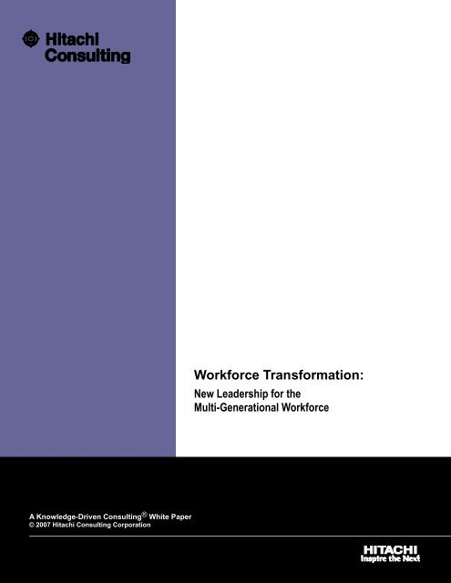 Workforce Transformation: - Hitachi Consulting