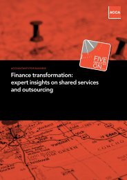 Finance transformation: expert insights on shared services ... - ACCA