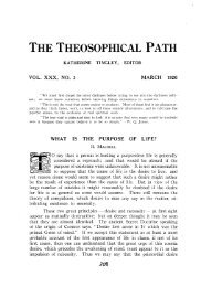 Number 3 — March 1926 - The Theosophical Society