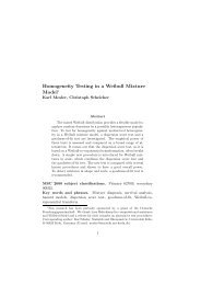 Homogeneity Testing in a Weibull Mixture Model∗