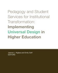 Pedagogy and Student Services for Institutional Transformation ...