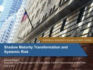 Shadow Maturity Transformation and Systemic Risk - Federal ...