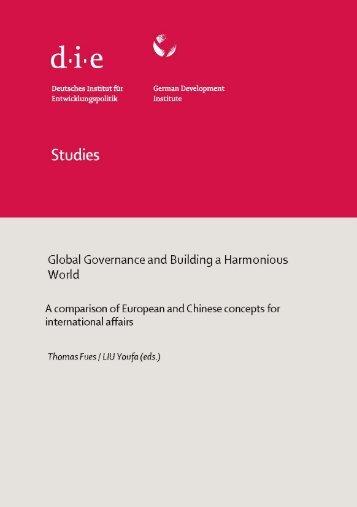 Studies 62.pdf - Deutsches Institut für Entwicklungspolitik