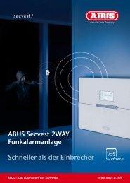 ABUS Secvest 2WAY Funkalarmanlage Schneller als der Einbrecher