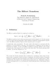 The Hilbert Transform