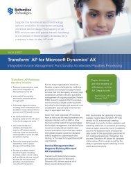 Transform AP for Microsoft Dynamics AX - Bottomline Technologies