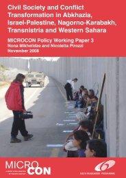 Civil Society and Conflict Transformation in Abkhazia ... - MICROCON