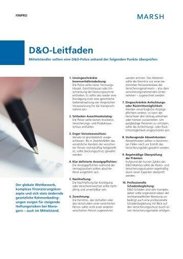 D&O-Leitfaden - Marsh