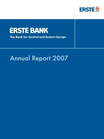 Annual Report 2007 - Erste Group