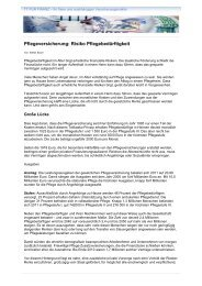 Pflegeversicherung: Risiko Pflegebedürftigkeit - TT PUR Finanz