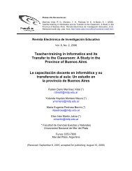 Teacher-training in Informatics and its Transfer to the ... - Redie