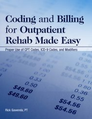 Coding and Billing for Outpatient Rehab Made Easy