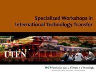 Specialized Workshops in International Technology Transfer - UTEN