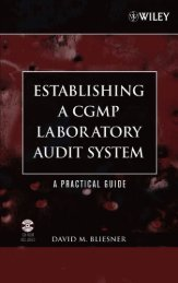 Establishing A CGMP Laboratory Audit System - FTP Directory Listing