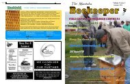 Summer 2011 newsletter - Manitoba Beekeepers' Association
